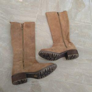 Lucky brand khaki boots size 7